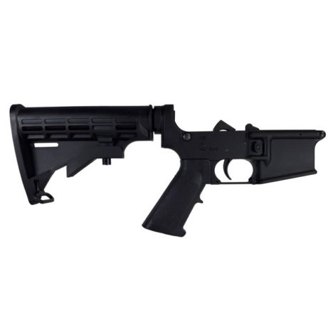 AR15 Forged Lower Receiver, Complete-MILSPEC
