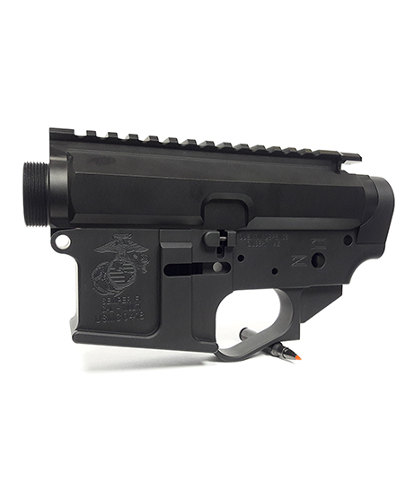 Quentin Defense Military Themed AR-15 Billet Receiver Set